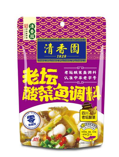 直播吧官网园老坛酸菜鱼调料305g